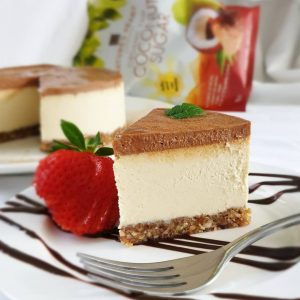 White Chocolate & Salted Caramel Cheesecake