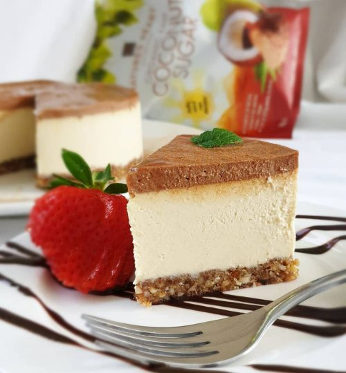 White Chocolate & Salted Caramel Cheesecake